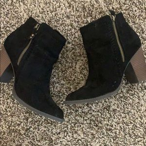 Just fab black booties size 8